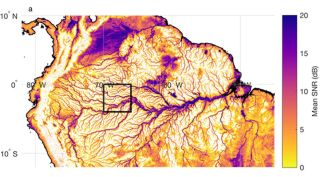Amazon river basin by CGNSS