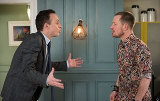 Hollyoaks spoilers! Kyle and James have a blazing row when Kyle accuses him of cheating