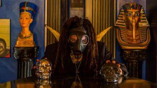 Al Jourgensen holding skulls