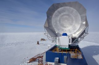 The South Pole Telescope is one of the facilities that came together around the world to create the virtual Event Horizon Telescope that targeted two black holes.