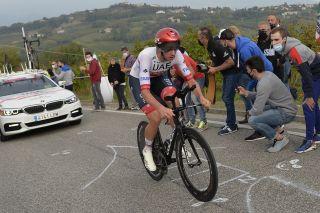 Giro dItalia 2020 103th Edition 14th stage Conegliano Valdobbiadene 341kmm 17102020 Brandon Mcnulty USA UAE Team Emirates photo Tommaso PelagalliBettiniPhoto2020