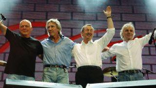 Pink Floyd on stage at Live 8 in 2005