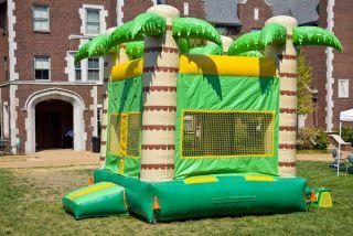 A children's bouncy house