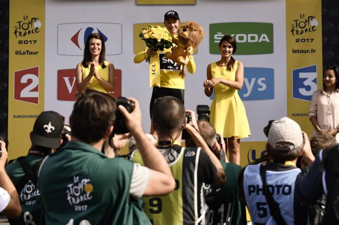 Chris Froome in yellow after stage 6 at the Tour de France