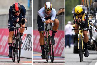 Dennis, Ganna, Van Aert Olympics TT