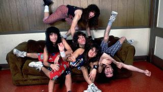 Anthrax posing on a sofa