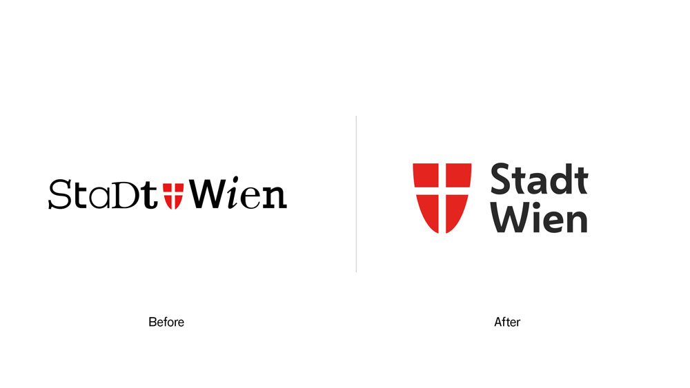 Brand typography: City of Vienna
