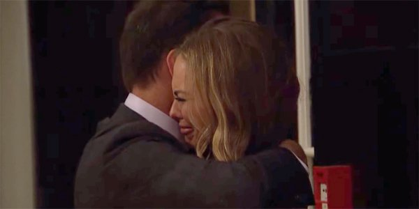The Bachelorette 2019 Season 15 Chris Harrison hugs crying Hannah Brown ABC