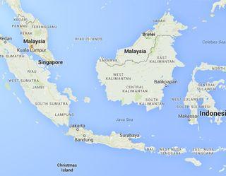 Java sea map