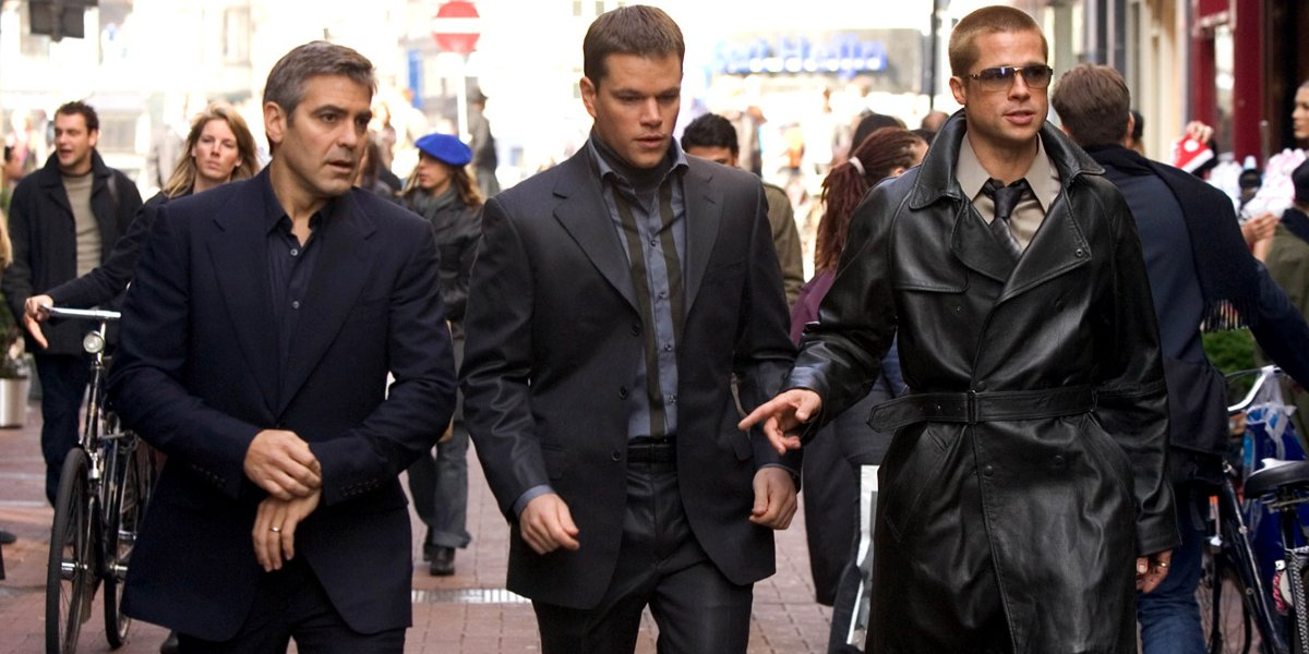 George Clooney, Matt Damon, and Brad Pitt in Oceans 12