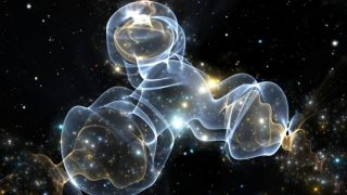 Dark matter particles might interact with each other.