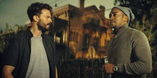 Jamie Dornan and Anthony Mackie in Synchronic