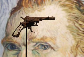 The pistol thought to be the one used by Van Gogh to shoot himself is on public display at Paris' Drouot auction house.