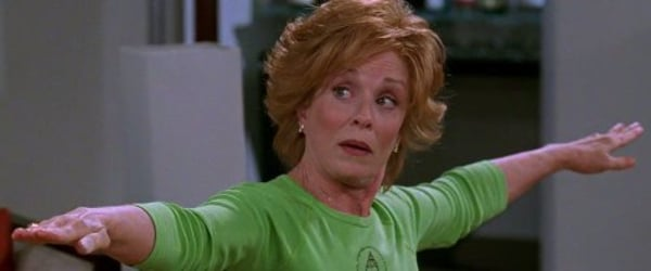 Two And A Half Men Holland Taylor stretching her arms horizontally