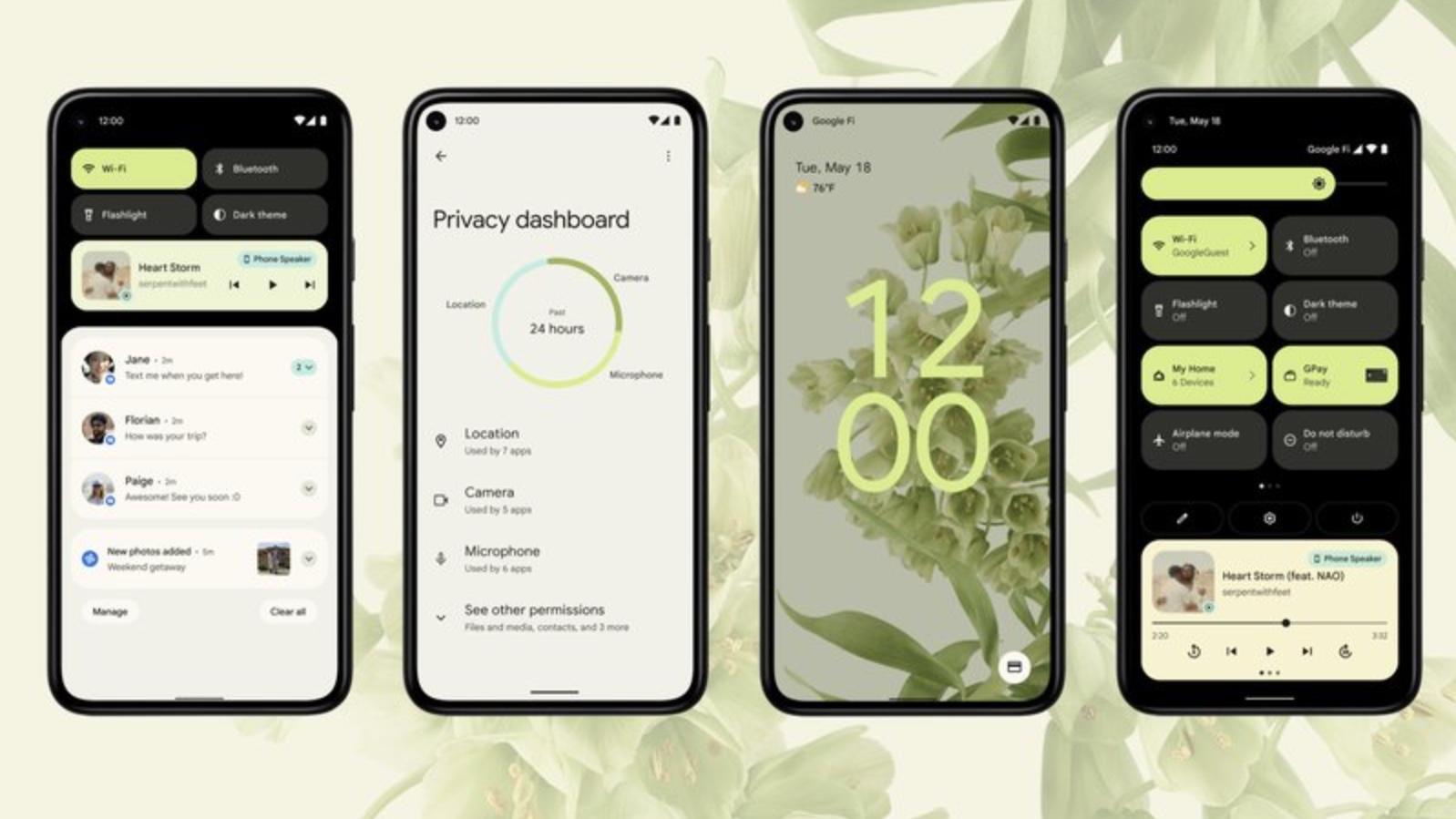Interfaz de Android 12.