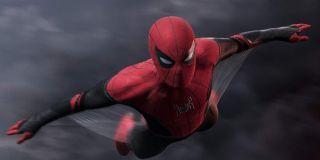 Spider-Man gliding through air in Far From Home