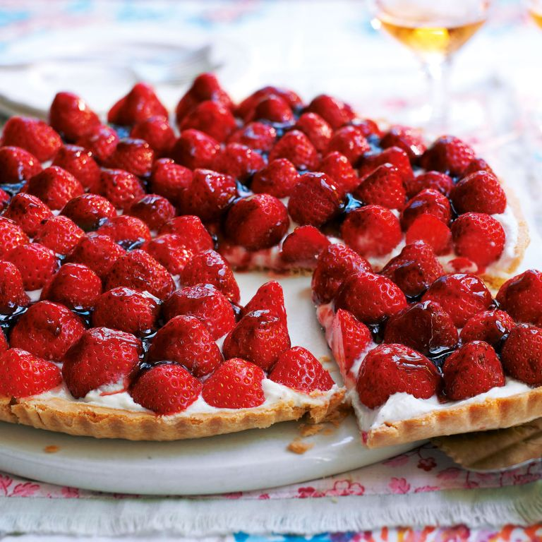 Strawberry and Ricotta Tart recipe-Strawberry recipes-recipe ideas-new recipes-woman and home