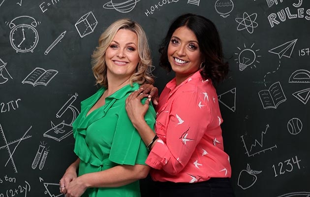 Jo Joyner Sunetra Sarker on the set of Ackley Bridge