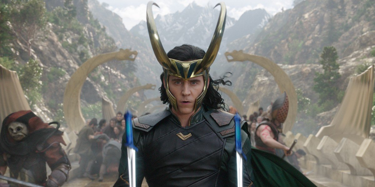 Loki getting ready to fight for Asgard In Thor: Ragnarok