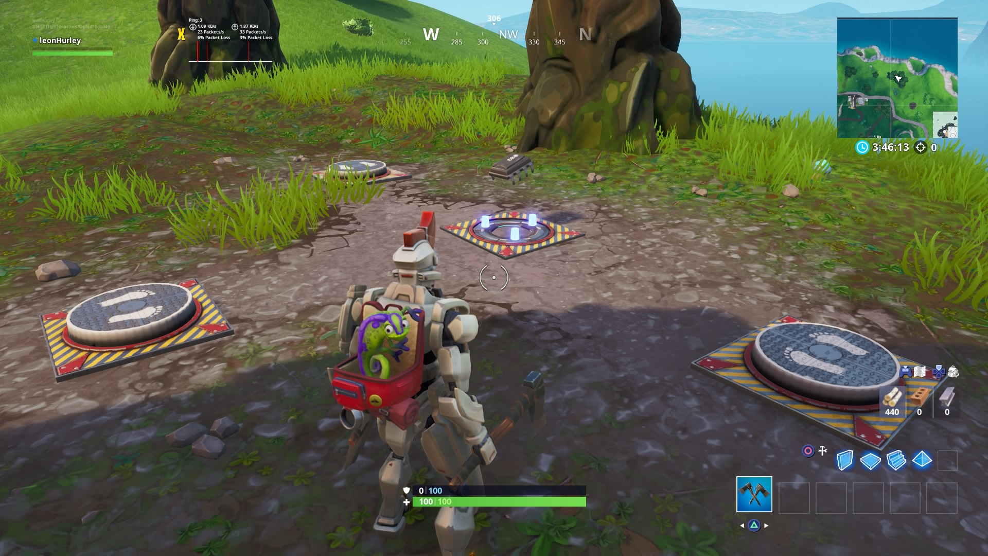 Fortnite Fortbyte 82 involves a pressure plate puzzle NW of