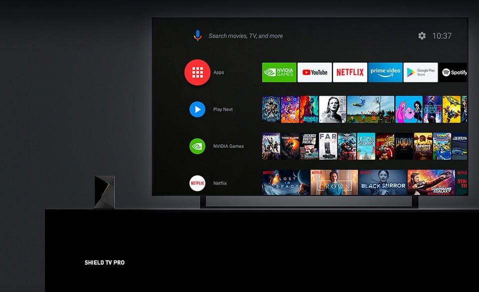 Size comparison of the Nvidia Shield TV Pro
