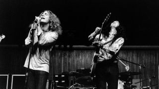 Led Zeppelin's Robert Plant and Jimmy Page live in 1970