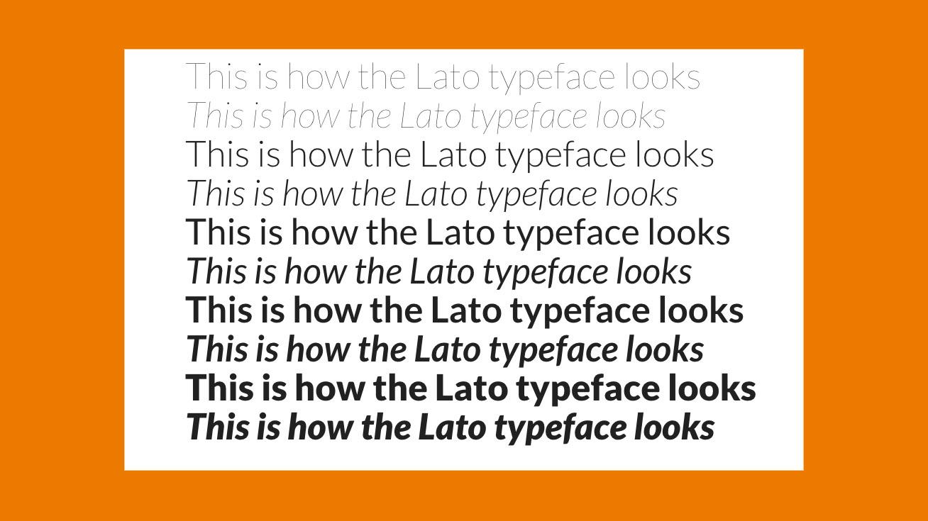 Free web fonts Lato