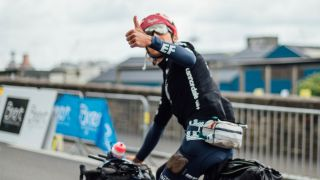 Lachlan Morton completed the Alt Tour de France in Paris with days to spare on the peloton