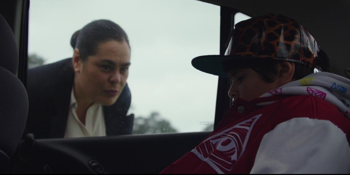 Rachel House and Julian Dennison in The Hunt For The Wilderpeople