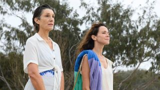 From left: Harriet Walter as Edie and Frances O'Connor as Kate in 'The End'