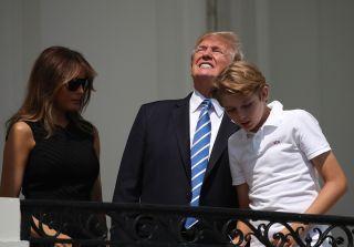 trump, eclipse