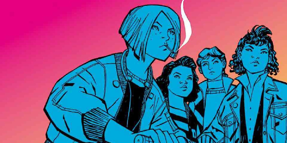 The main characters of The Paper Girls series.