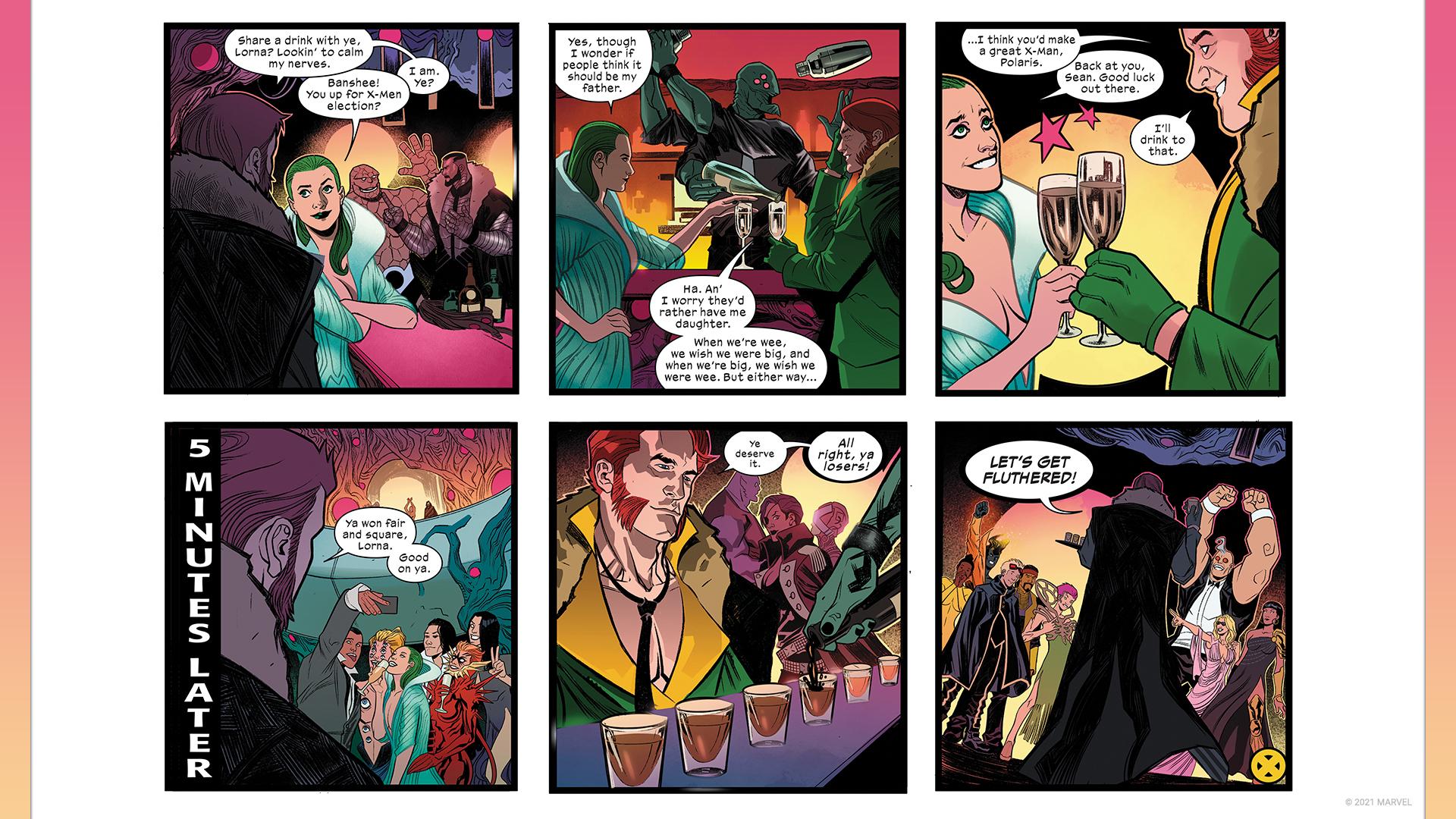 Tira cómica con los ganadores de la votación de los fanáticos de X-Men