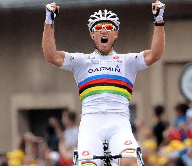 Thor Hushovd wins, Tour de France 2011, stage 13