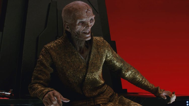 Snoke in the Throne Room