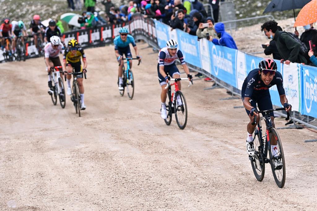 Foto Fabio Ferrari/LaPresse 16 maggio 2021 Italia Sport Ciclismo Giro d'Italia 2021 - edizione 104 - Tappa 9 - Da Castel di Sangro a Campo Felice (Rocca di Cambio) (km 158)
