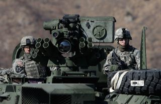 U.S. soldiers participate in a training exercise on March 7, 2011, in Pocheon, South Korea.