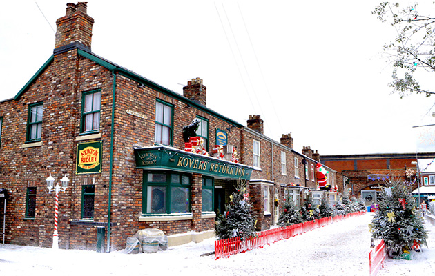 Coronation Street Christmas snow