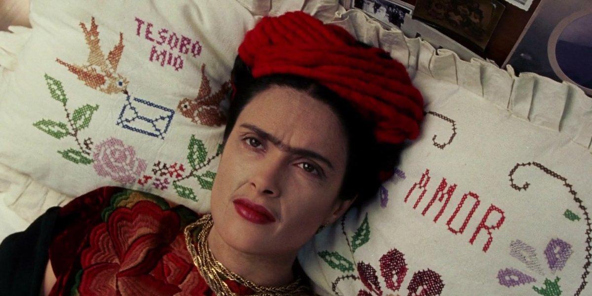 Salma Hayek as Frida Khalo in Frida.