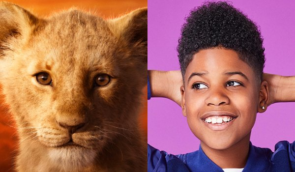 The Lion King Young Simba and JD McCrary side by side