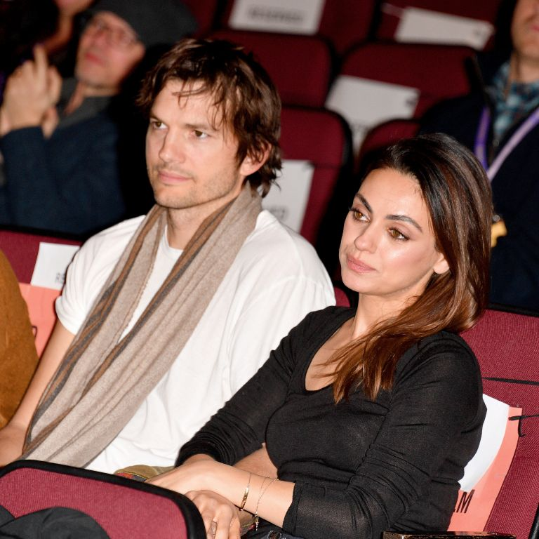 "Ashton Kutcher and Mila Kunis attend the 2020 Sundance Film Festival - ""Four Good Days"" Premiere at Eccles Center Theatre on January 25, 2020 in Park City, Utah"