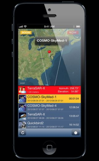 SpyMeSat iPhone App