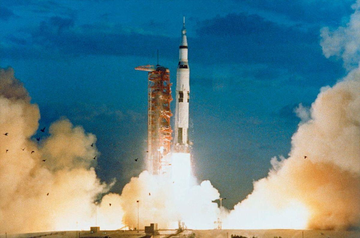 Saturn V at 50: NASA Moon Rocket Lifted Off on Maiden ...