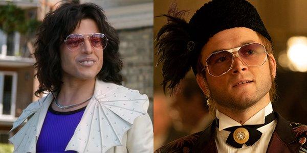 Rami Malek as Freddie Mercury and Taron Egerton as Elton John