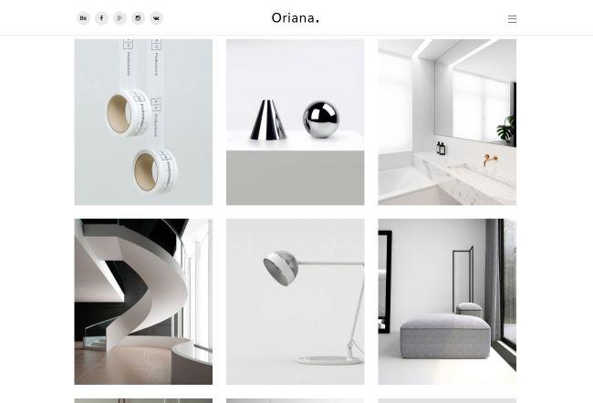 10 on-trend portfolio templates: Oriana