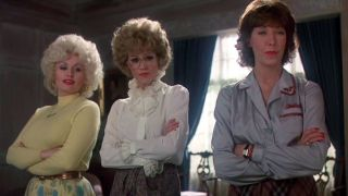 Dolly Parton, Jane Fonda, and Lily Tomlin in 9 to 5