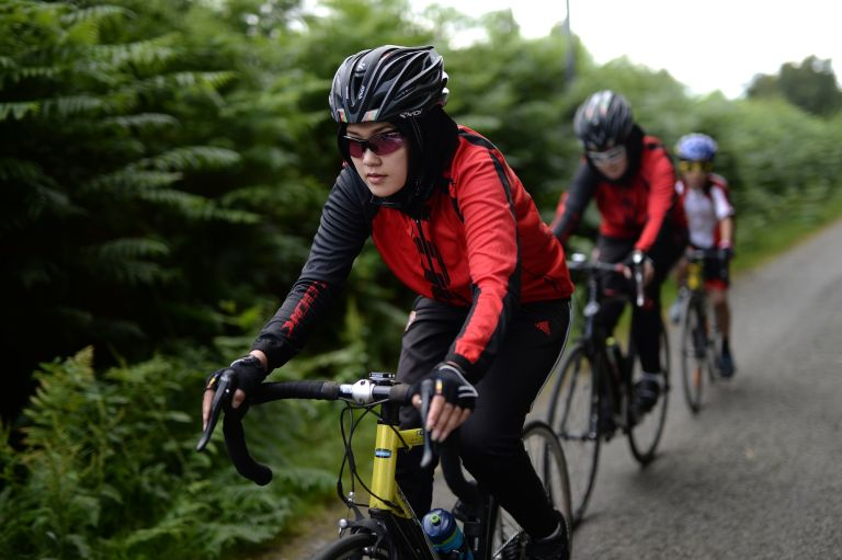 Afghan refugees cycling in France