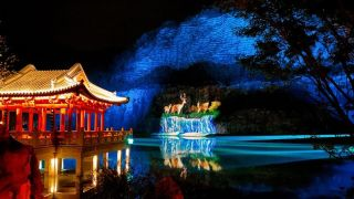 Jiangsu Expo Park with projections using Christie DWU2022-HS laser projectors