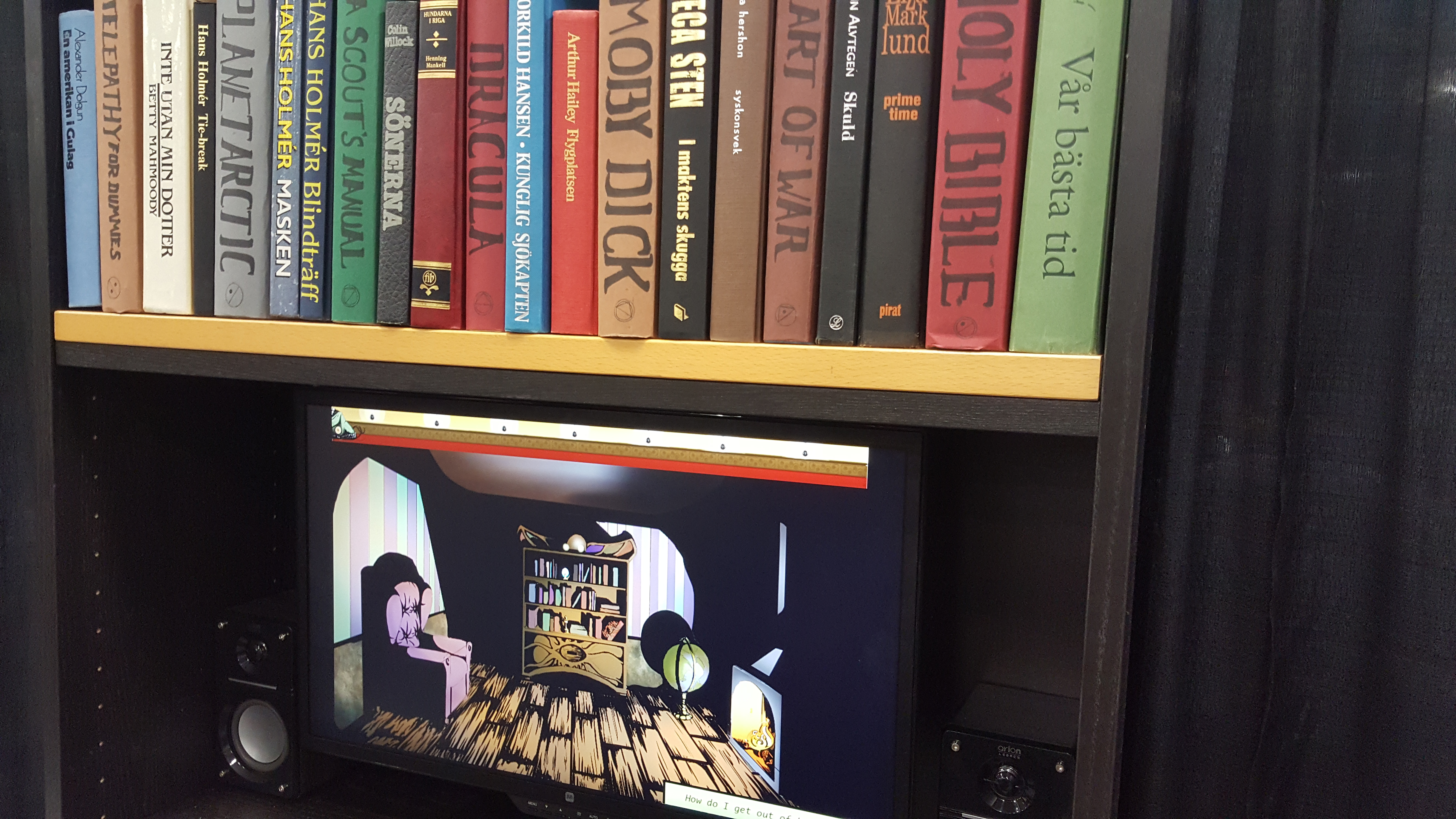Puzzle Game Cryptogram Uses A Real Bookshelf To Open Secret Doors