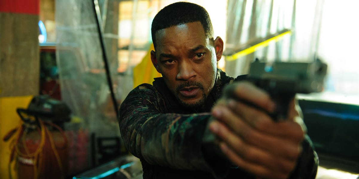 Will smith holding a gun in Bad Boys For Life